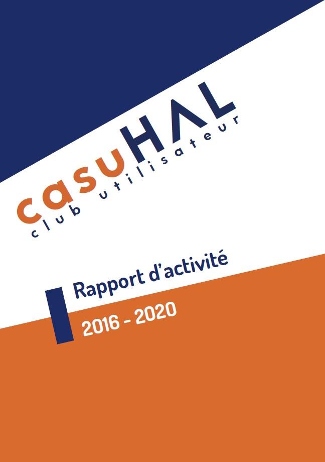 Couverture du rapport d'activité 2016-2020